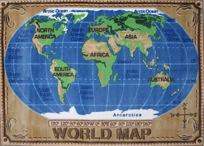 Fun Rugs TSC-153 3147 World Map Accent Rug, 31-Inch by 47-Inch