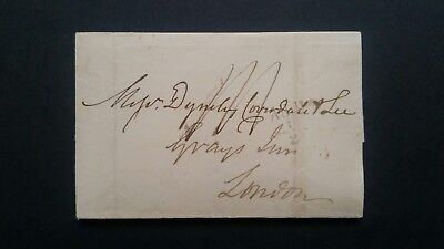 1838 Edin to London.Chief Office Sunday code S  cds 21 OC 1838.Rare.