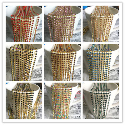 Wholesale 1-Row SS8 Cystal Rhinestone Trim Sparse Cup Chain Claw Jewelry Crafts