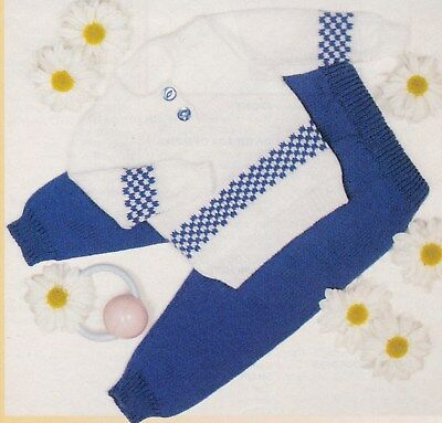 Baby's Suit Pattern For Machine Knitting