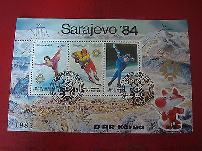 Korea - 1984 Winter Olympic Events - Minisheet - Unmounted Used - Ex. Condition