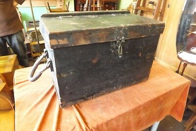 Antique Georgian Leather Trunk