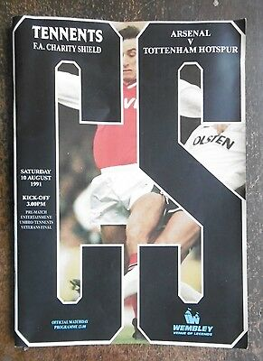 Arsenal V Tottenham Hotspur (Fa Charity Shield) Football Programme 10-8-1991
