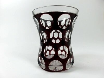 Mug Glass Stained, Rare Form, beautiful hand cut, Around 1850 -1880 AL16