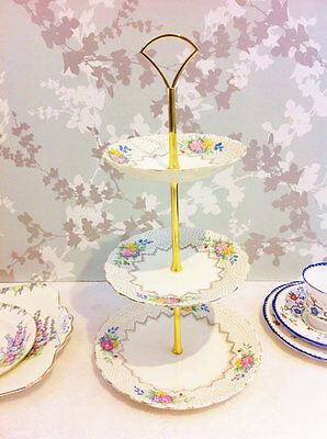 1930s Tuscan 3 Tier Cake Stand