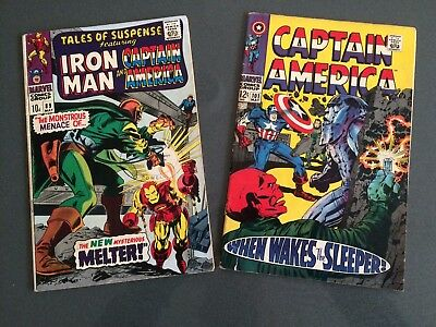 Marvel Comics1967 Iron Man & Captain America 89 and 1968 Captain America 101