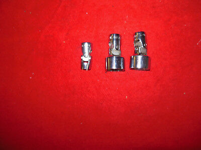 snap on NOS 3 universal sockets 3/8 Dr. 12 point 7/16 & {2} 7/8