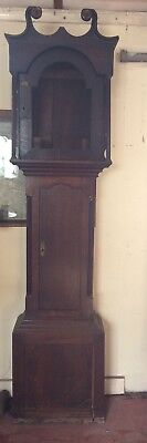 "Oak Longcase Grandfather Clock case Restoration Project 91"" Tall"