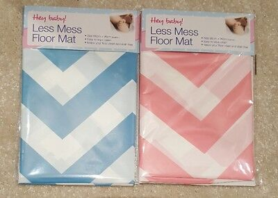 NEW Blue or Pink Chevron Pattern Less Mess Splash Mat