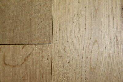 Solid Brushed Lacquered Click Oak Flooring Real Wood Wooden Wide Floor Hardwood