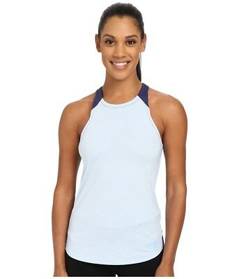 2d8934477cfe48 $50 The North Face - Dynamix Tank Top (Powder Blue Heather/Patriot Blue)