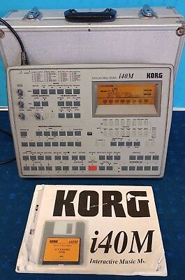 KORG i40M MODULE - PERFECT CONDITION - WITH CASE,MANUAL,DISK - FREE P&P/WARRANTY