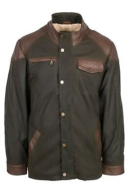 Allard by Harvey Parker Mens Luxury Country Style Quilted Wax Jacket Waterproof