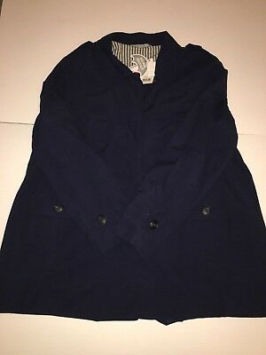 George Womens Size 18 Coat Jacket Shower Resistant Navy Blue Mac Style New Tags