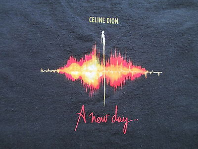 Celine Dion A New Day Show Las Vegas Black Red T Shirt Size S Small M Medium