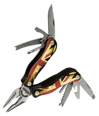 Rolson 10 In 1 Union Jack Multi Tool With Pliers Pliers Screwdriver Saw 35990