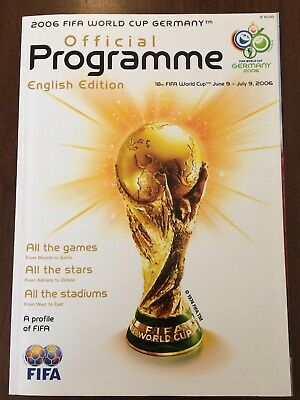 English Edition 2006 Fifa World Cup Group Stages Programme Mint Condition