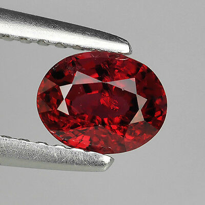 0.73 Ct Unheated Stunning Quality Natural Red Spinel Oval Cut Loose Gemstones