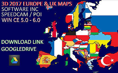 iGO 8 WIN CE 3D SATNAV SOFTWARE 2017 EURO & UK MAP POI SPEEDCAM TRUCK & CAR