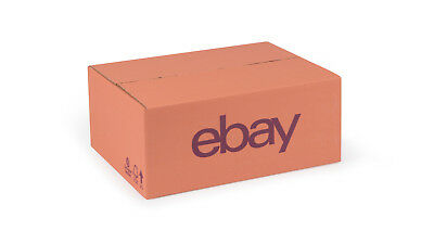 "eBay Branded Packaging Small Cardboard Box (13.78"" x 10.63"" x 5.51"") Pink/Purple"