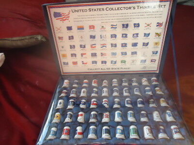 STATE FLAG  Pewter THIMBLE --- SET OF 50 States LIMITED EDITION