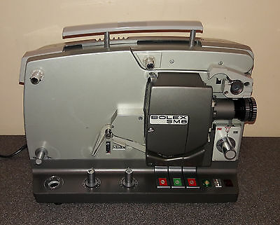 Vintage Bolex SM8 Super 8 Projector with Speaker Case