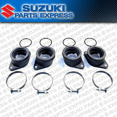 New 1980 - 1983 Suzuki Gs550 Gs650 Oem Intake Manifold Boots & Clamps Kit