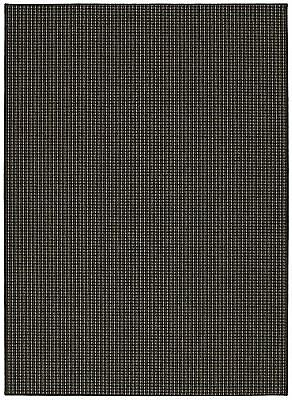 Garland Rug Berber Colorations Area Rug, 7-Feet 6-Inch by 9-Feet 6-Inch, Black