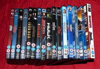 MARVEL DVDS JOB LOT 16 Movies All Region 2 - Includes Guardians Of The Galaxy 2