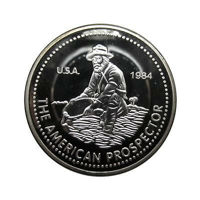 N535 1 Troy Ounce American Prospector 1984 USA Liberty proof coin FREE SHIPPING!