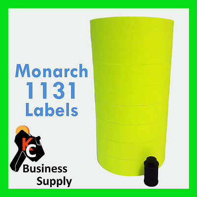 Price Gun Labels for Monarch 1131 Chartreuse Bright Yellow - Ink Roller Included