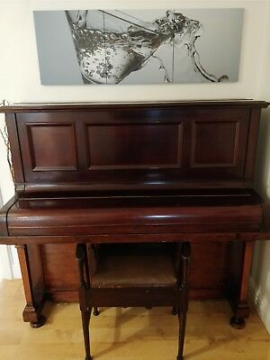 Full size piano with matching stool