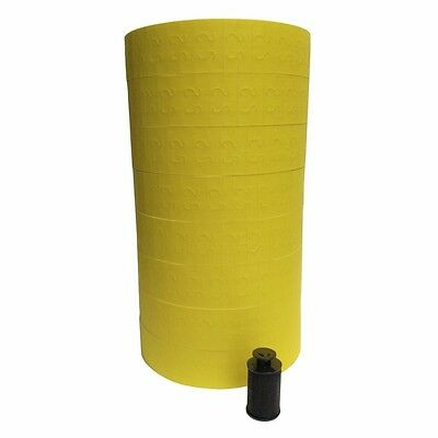 1131 Yellow labels for Monarch price gun 8 rolls Made in USA ink roller included