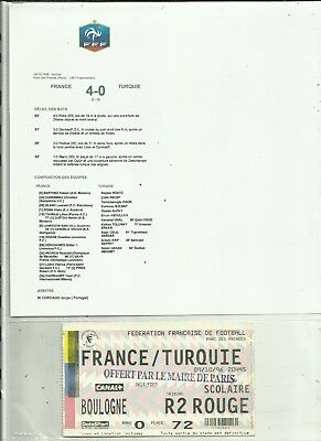 1 Ticket Football Amical  France/ Turquie