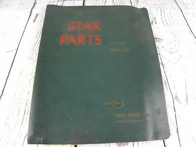 Vtg 1950's Star Parts Linotype Catalog Spaceband Diagrams Repairs Bound Notebook