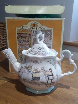 Royal Doulton Brambly Hedge Teapot - Unused And Boxed