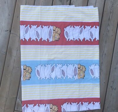 Vintage 1978 GARFIELD the CAT Flat Bed Sheet TWIN Size Fabric Crafts