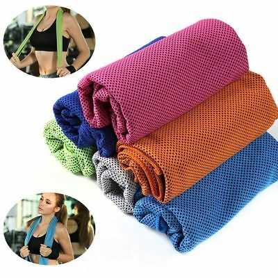 Ice Cold Cooling Towel For Running Jogging Gym Chilly Pad Instant Sports Yoga