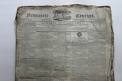 Bound lot of the Newcastle Courant Newspaper from 1801