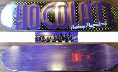 "Signed autograghed Anthony Pappalardo Chocolate Skateboard deck, 7.75"" x 32"""