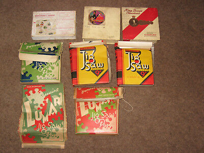 Vintage Lumar jigsaw No. 20 , 108 , 109 , and other vintage waddingtons  puzzles