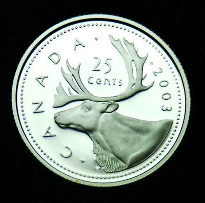 2003 Canadian 25¢ silver proof BU ultra cameo coin