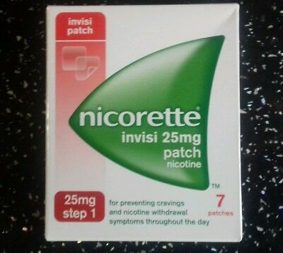 Nicorette Invisi 25mg Patch - Step 1 - 7 Patches