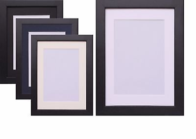 Black Photo Picture Frame Poster Frame With Mount White Black Ivory Blue Mounts