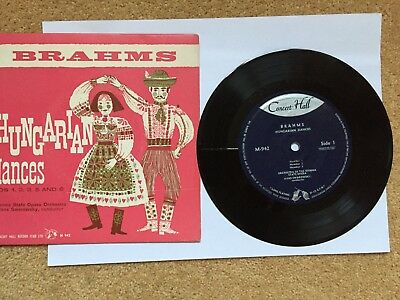"Brahms(7"" Vinyl P/S)Hungarian Dances -Concert Hall-M 942"