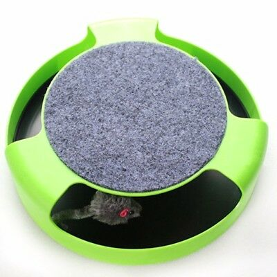 Cat Kitten Catch The Mouse Moving Toy Scratching Claw Care Mat Play Toy