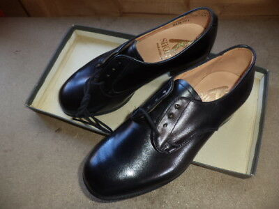 Womens  Cadet Royal Army Corps Raf Black Leather Shoes Size 2 .goodwood,? 210L