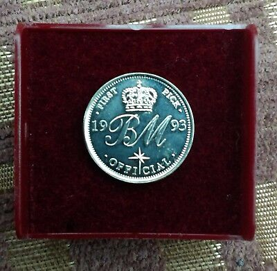 Brian May Sixpence Coin Pick 1993 Queen