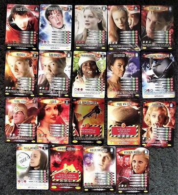 19 Doctor Who Battles In Time Invader Common and Rare Trading Cards 2008
