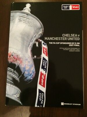 FA CUP FINAL 2007 CHELSEA v MANCHESTER UTD MINT PROGRAMME